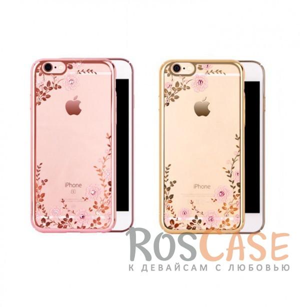 Прозрачный чехол с цветами и стразами для Apple iPhone 7 / 8 (4.7) с глянцевым бамперомОписание:совместим с Apple iPhone 7 / 8 (4.7);материал - термополиуретан;тип - накладка.&amp;nbsp;Особенности:прозрачный;изящный рисунок;украшен стразами;защищает от царапин и ударов;не скользит в руках.<br><br>Тип: Чехол<br>Бренд: Epik<br>Материал: TPU