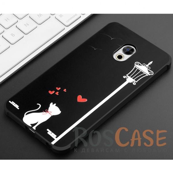 Фотография Влюбленная кошка Противоударный силиконовый чехол для Meizu Pro 6 Plus