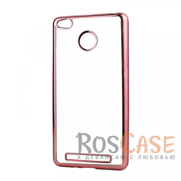 Прозрачный силиконовый чехол для Xiaomi Redmi 3 Pro / Redmi 3s с глянцевой окантовкой (Розовый)Описание:материал - силикон;совместим с Xiaomi Redmi 3 Pro / Redmi 3s&amp;nbsp;;тип - накладка.Особенности:прозрачный;глянцевая окантовка;все вырезы предусмотрены;защищает от царапин и потертостей;тонкий дизайн;плотно облегает корпус.<br><br>Тип: Чехол<br>Бренд: Epik<br>Материал: TPU