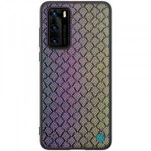 Nillkin Twinkle Rainbow | Чехол с текстурной тканевой вставкой  для Huawei P40