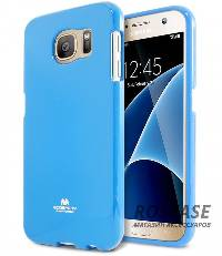 фотография Голубой TPU чехол Mercury Jelly Color series для Samsung G930F Galaxy S7