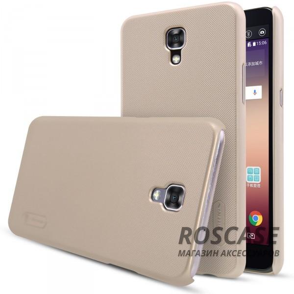 Матовый чехол для LG K500 X Screen / X View (+ пленка) (Золотой)Описание:бренд:&amp;nbsp;Nillkin;спроектирован для LG K500 X Screen / X View;материал: поликарбонат;тип: накладка.Особенности:не скользит в руках благодаря рельефной поверхности;защищает от повреждений;прочный и долговечный;легко устанавливается и снимается;пленка для защиты экрана в комплекте.<br><br>Тип: Чехол<br>Бренд: Nillkin<br>Материал: Пластик