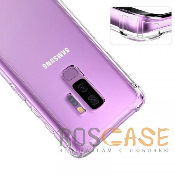 Фотография Прозрачный King Kong Armor | Противоударный прозрачный чехол для Samsung Galaxy S9+ с дополнительной защитой углов