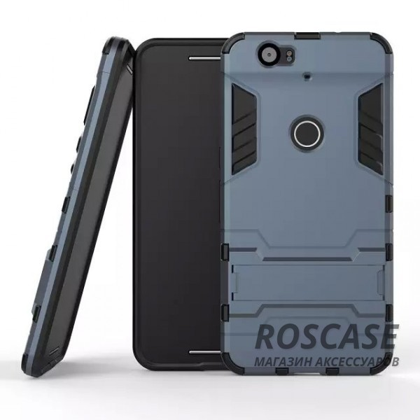 Ударопрочный чехол-подставка Transformer для Huawei Nexus 6P с мощной защитой корпуса (Серый / Metal slate)Описание:совместим со смартфоном Huawei Nexus 6P;форм-фактор  -  накладка;материал для изготовления  -  термополиуретан/поликарбонат.Особенности:простая и надежная фиксация смартфона;имеет необходимые вырезы под функции гаджета;есть функция подставки;защита от скольжения и ударов;защита от отпечатков;не деформируется;морозостойкий.<br><br>Тип: Чехол<br>Бренд: Epik<br>Материал: TPU
