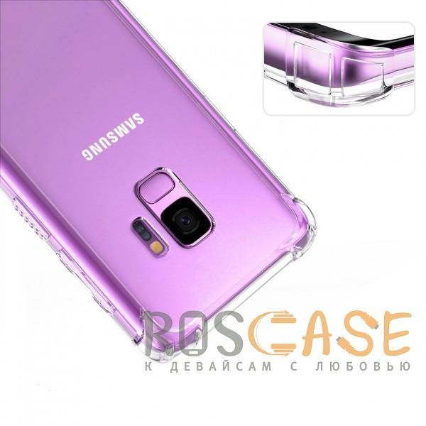 Изображение Прозрачный King Kong Armor   Противоударный прозрачный чехол для Samsung Galaxy S9 с дополнительной защитой углов
