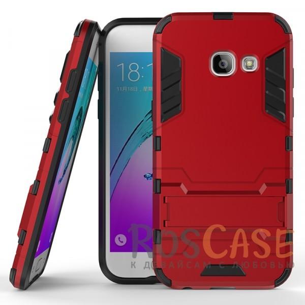 Transformer | Противоударный чехол для Samsung A720 Galaxy A7 (2017) с мощной защитой корпуса (Красный / Dante Red)Описание:ударопрочный аксессуар с функцией подставки;чехол разработан для Samsung A720 Galaxy A7 (2017);материалы - термополиуретан, поликарбонат;тип - накладка.<br><br>Тип: Чехол<br>Бренд: Epik<br>Материал: TPU