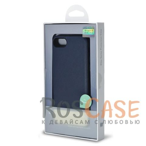 Кожаная накладка с металлической вставкой ROCK Elite Series для Apple iPhone 7 (4.7) (Синий / Blue)Описание:производитель  - &amp;nbsp;Rock;разработан для Apple iPhone 7 (4.7);материал  -  искусственная кожа, металл, поликарбонат;тип  -  накладка.&amp;nbsp;Особенности:металлическая вставка;в наличии все функциональные вырезы;не скользит в руках;амортизирует удары;защищает от механических повреждений.<br><br>Тип: Чехол<br>Бренд: ROCK<br>Материал: Искусственная кожа