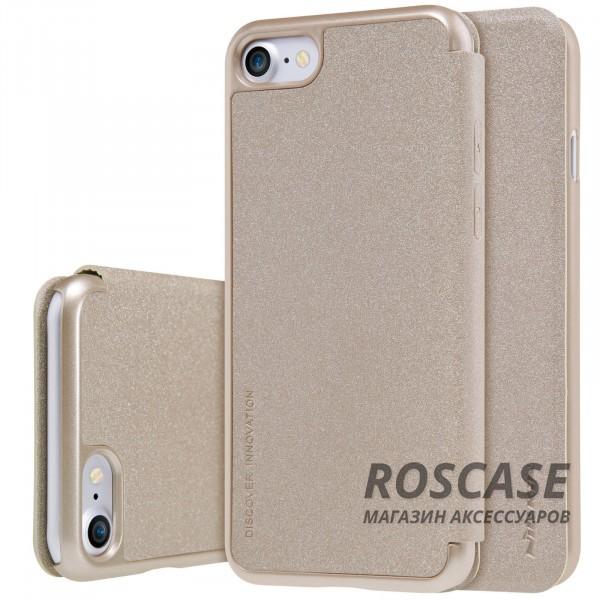 Кожаный чехол (книжка) Nillkin Sparkle Series для Apple iPhone 7 (4.7) (Золотой)Описание:производитель -&amp;nbsp;Nillkin;разработан для Apple iPhone 7 (4.7);материал - искусственная кожа, поликарбонат;тип - чехол-книжка.Особенности:блестящая поверхность;защита от царапин и ударов;тонкий дизайн;защита со всех сторон;не скользит в руках.<br><br>Тип: Чехол<br>Бренд: Nillkin<br>Материал: Искусственная кожа