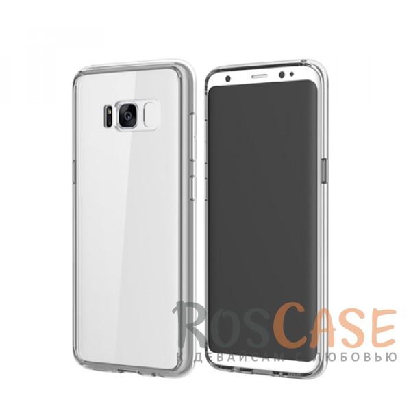Ультратонкий пластиковый чехол-накладка с дополнительной защитой углов и кнопок для Samsung G955 Galaxy S8 Plus (Прозрачный / Transparent)Описание:производитель -&amp;nbsp;Rock;материалы - поликарбонат, термополиуретан;разработан специально для Samsung G955 Galaxy S8 Plus;прозрачная накладка;легкий дизайн;защитный бортик вокруг камеры;защита задней панели и боковых граней.<br><br>Тип: Чехол<br>Бренд: ROCK<br>Материал: Поликарбонат