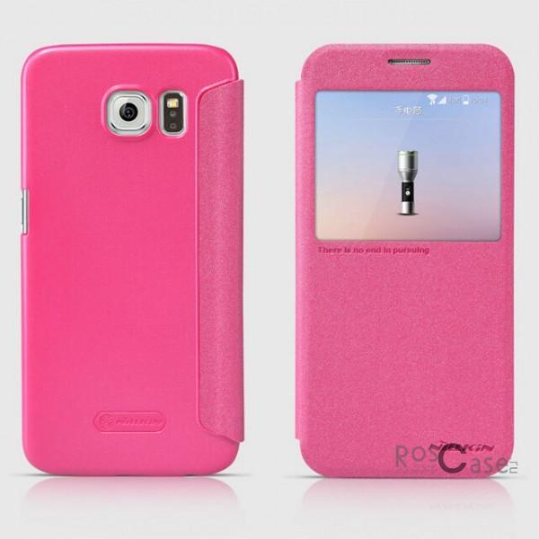 Кожаный чехол (книжка) Nillkin Sparkle Series для Samsung Galaxy S6 G920F/G920D Duos (Розовый)Описание:бренд -&amp;nbsp;Nillkin;совместим с Samsung Galaxy S6 G920F/G920D Duos;материал: кожзам;тип: чехол-книжка.Особенности:защита от механических повреждений;не скользит в руках;интерактивное окошко;функция Sleep mode;не выгорает;тонкий дизайн.<br><br>Тип: Чехол<br>Бренд: Nillkin<br>Материал: Натуральная кожа