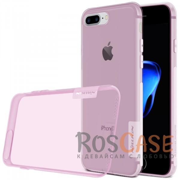 TPU чехол Nillkin Nature Series для Apple iPhone 7 plus (5.5) (Розовый (прозрачный))Описание:бренд&amp;nbsp;Nillkin;совместимость - Apple iPhone 7 plus (5.5);материал  -  термополиуретан;тип  -  накладка.&amp;nbsp;Особенности:в наличии все вырезы;не скользит в руках;тонкий дизайн;защита от ударов и царапин;прозрачный;заглушка на отверстие для зарядки.<br><br>Тип: Чехол<br>Бренд: Nillkin<br>Материал: TPU