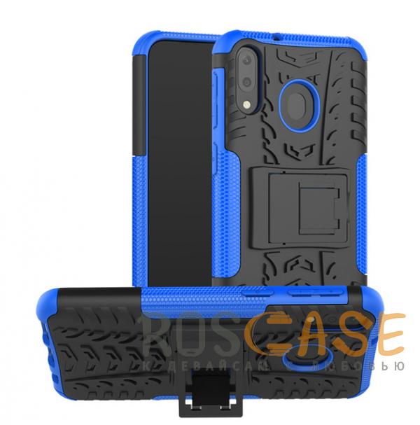 Фотография Синий Shield | Противоударный чехол для Galaxy A20 / A30 / A50 с подставкой