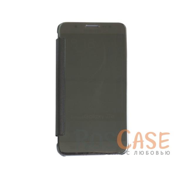 Чехол-книжка с полупрозрачной акриловой крышкой с зеркальным покрытием для Samsung J710F Galaxy J7 (Серебряный)<br><br>Тип: Чехол<br>Бренд: Epik<br>Материал: Пластик