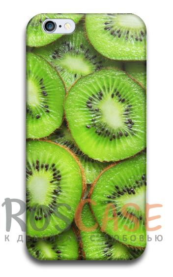 """Фото Киви Пластиковый чехол RosCase """"Фрукты"""" для iPhone 5/5S/SE"""