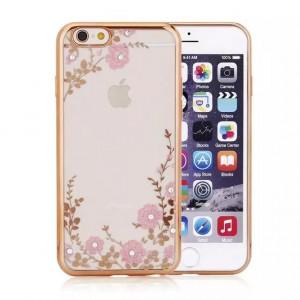 """Прозрачный чехол со стразами для Apple iPhone 7 (4.7"""") с глянцевым бампером"""