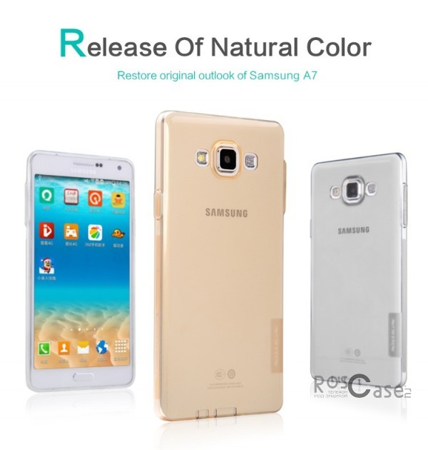 TPU чехол Nillkin Nature Series для Samsung A700H / A700F Galaxy A7Описание:производитель  - &amp;nbsp;Nillkin;совместимость: Samsung A700H / A700F Galaxy A7;материал  -  термополиуретан;форма  -  накладка.&amp;nbsp;Особенности:в наличии все вырезы;матовая поверхность;не увеличивает габариты;защита от ударов и царапин;на накладке не видны &amp;laquo;пальчики&amp;raquo;.<br><br>Тип: Чехол<br>Бренд: Nillkin<br>Материал: TPU