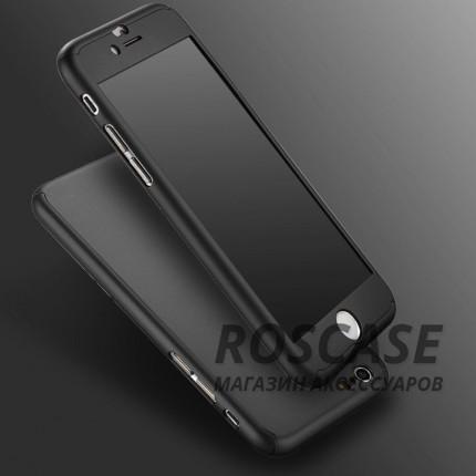 Чехол iPaky 360 градусов для Apple iPhone 6/6s (4.7) (+ стекло на экран) (Черный)Описание:производитель: iPaky;совместимость: смартфон Apple iPhone 6/6s (4.7);материалы для изготовления: поликарбонат и каленое стекло;форм-фактор: накладка.Особенности:надежная защита: чехол, бампер, стекло;высокий уровень износостойкости и прочности;ультратонкий, не увеличивает визуально объем;легко фиксируется;легко очищается.<br><br>Тип: Чехол<br>Бренд: Epik<br>Материал: Пластик