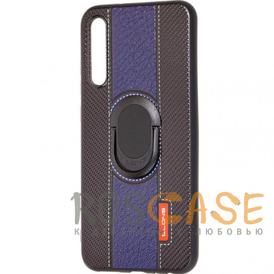 Фото Синий TPU+PC чехол DLONS NY с держателем-подставкой для Samsung Galaxy A50 (A505F) / A50s / A30s