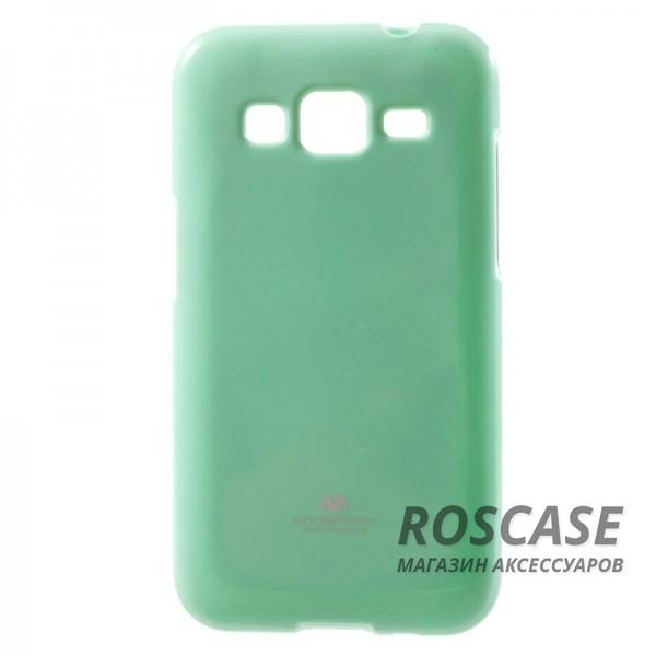 TPU чехол Mercury Jelly Color series для Samsung G360H/G361H Galaxy Core Prime Duos (Бирюзовый)Описание:компания разработчик: Mercury;совместимость с устройством модели: Samsung G360H/G361H Galaxy Core Prime Duos;материал изделия: термопластический полиуретан;конфигурация: накладка.Особенности:ультратонкий, не увеличивает визуально объем;имеет механизм легкой фиксации;в наличии все функциональные вырезы;легко очищается от загрязнений.<br><br>Тип: Чехол<br>Бренд: Mercury<br>Материал: TPU