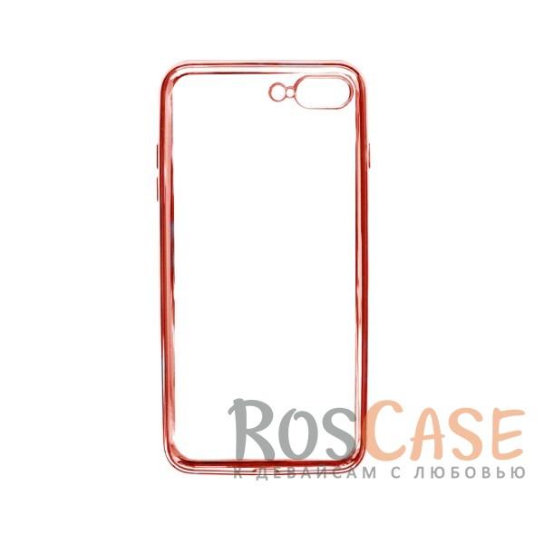 """Фото Розовый Силиконовый чехол для Apple iPhone 7 plus / 8 plus (5.5"""") с глянцевой окантовкой"""