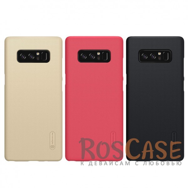 Матовый чехол Nillkin Super Frosted Shield для Samsung Galaxy Note8 (+ пленка)Описание:бренд&amp;nbsp;Nillkin;совместимость: Samsung Galaxy Note8;материал: поликарбонат;тип: накладка;закрывает заднюю панель и боковые грани;защищает от ударов и царапин;рельефная фактура;не скользит в руках;ультратонкий дизайн;защитная плёнка на экран в комплекте.<br><br>Тип: Чехол<br>Бренд: Nillkin<br>Материал: Поликарбонат