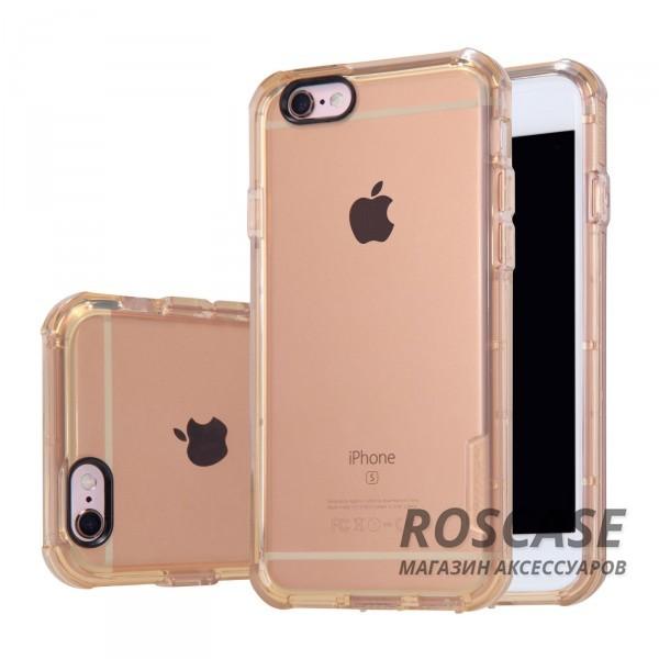 TPU чехол Nillkin Crashproof Case Series для Apple iPhone 6/6s (4.7) (Золотой (прозрачный))Описание:компания  - &amp;nbsp;Nillkin;совместим с Apple iPhone 6/6s (4.7);материал  -  термополиуретан;формат  -  накладка.&amp;nbsp;Особенности:заглушки для функциональных отверстий;выступы над экраном и камерой;ударопрочный;защита от ударов, пыли и царапин;прозрачный.<br><br>Тип: Чехол<br>Бренд: Nillkin<br>Материал: TPU