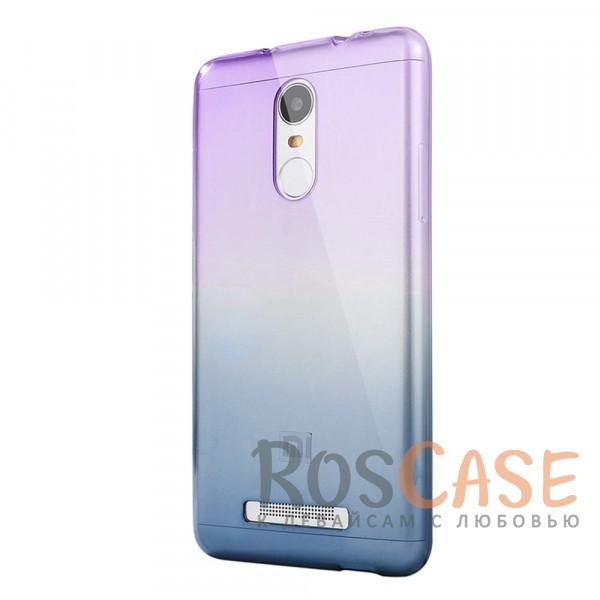 Прозрачный TPU чехол с цветным градиентом для Xiaomi Redmi Note 4 (Фиолетовый / Синий)<br><br>Тип: Чехол<br>Бренд: Epik<br>Материал: TPU