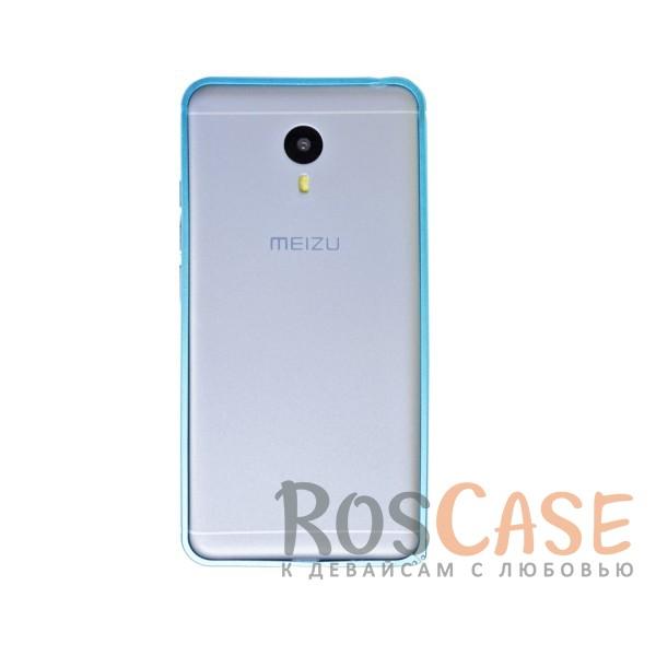 Металлический округлый бампер на пряжке для Meizu M3 Note (Синий)<br><br>Тип: Бампер<br>Бренд: Epik