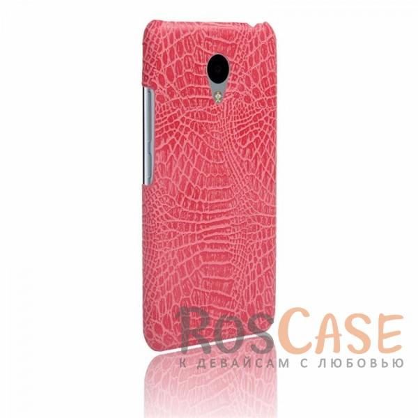 Кожаный чехол с узором из крокодиловой кожи Croc Series для Meizu M3 / M3 mini / M3s (Розовый)<br><br>Тип: Чехол<br>Бренд: Epik<br>Материал: Искусственная кожа