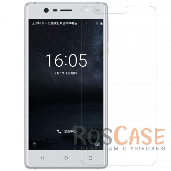 Прозрачная глянцевая защитная пленка на экран с гладким пылеотталкивающим покрытием для Nokia 3Описание:бренд&amp;nbsp;Nillkin;совместимость -&amp;nbsp;Nokia 3;материал: полимер;тип: прозрачная пленка;ультратонкая;защита от царапин и потертостей;фильтрует УФ-излучение;размер пленки -&amp;nbsp;134,5*62 мм.<br><br>Тип: Защитная пленка<br>Бренд: Nillkin