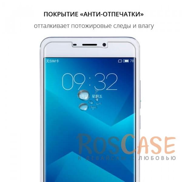 Фотография Прозрачное защитное стекло с закругленными краями и олеофобным покрытием для Meizu M5 Note