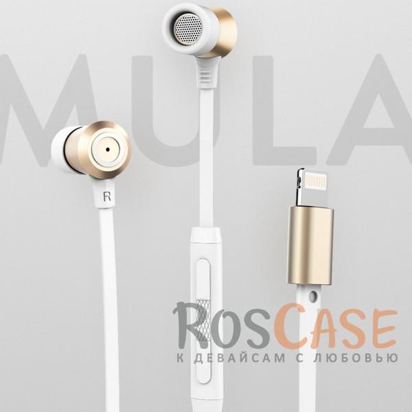 Фото Наушники ROCK Mula S stereo (Lightning earphone)