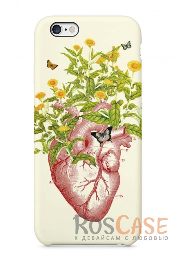 """Фото Сердце Пластиковый чехол RosCase """"Чувства"""" для iPhone 6/6s (4.7"""")"""