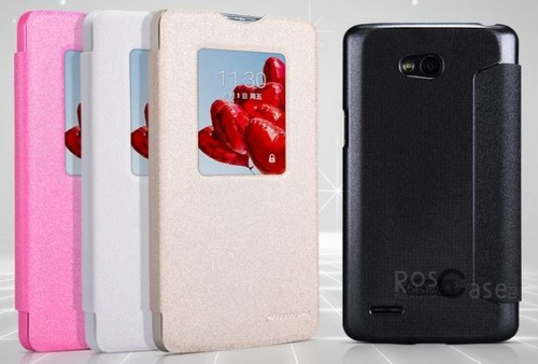 Кожаный чехол (книжка) Nillkin Sparkle Series для LG D380 L80 DualОписание:разработчик и производитель  -  Nillkin;изготовлен из поликарбоната и синтетической кожи;поверхность кожи фактурная;конструкция  -  чехол-книжка;совместим с LG D380 L80 Dual.&amp;nbsp;Особенности:внутри отделан микрофиброй;ультратонкий;морозоустойчивый;яркая гамма цветов.имеет хорошее сцепление;легкая фиксация на гаджет;очищается легко.<br><br>Тип: Чехол<br>Бренд: Nillkin<br>Материал: Натуральная кожа