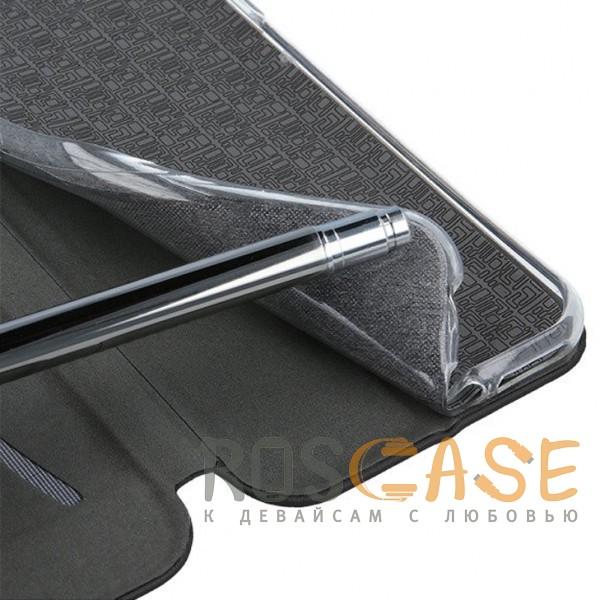 Фото Черный Open Color | Чехол-книжка для Meizu 15 с функцией подставки и магнитом