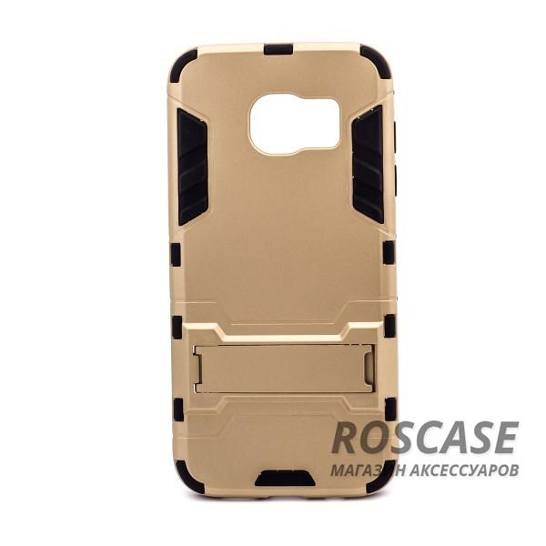 Ударопрочный чехол-подставка Transformer для Samsung G935F Galaxy S7 Edge с мощной защитой корпуса (Золотой / Champagne Gold)Описание:подходит для Samsung G935F Galaxy S7 Edge;материалы: термополиуретан, поликарбонат;формат: накладка.&amp;nbsp;Особенности:функциональные вырезы;функция подставки;двойная степень защиты;защита от механических повреждений;не скользит в руках.<br><br>Тип: Чехол<br>Бренд: Epik<br>Материал: TPU