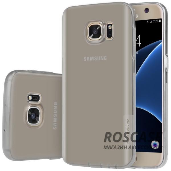 TPU чехол Nillkin Nature Series для Samsung G930F Galaxy S7 (Серый (прозрачный))Описание:производитель  -  бренд&amp;nbsp;Nillkin;совместим с Samsung G930F Galaxy S7;материал  -  термополиуретан;тип  -  накладка.&amp;nbsp;Особенности:в наличии все вырезы;не скользит в руках;тонкий дизайн;защита от ударов и царапин;прозрачный.<br><br>Тип: Чехол<br>Бренд: Nillkin<br>Материал: TPU