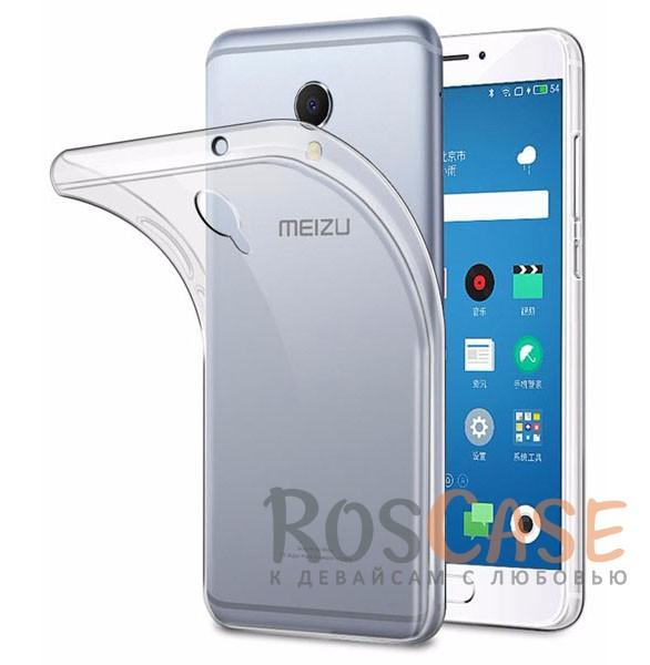 Фото Бесцветный (прозрачный) Ультратонкий силиконовый чехол для Meizu MX6