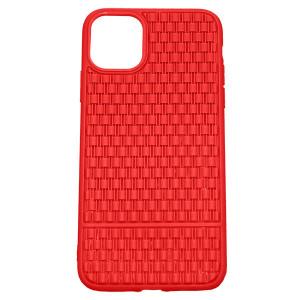 Рельефный силиконовый чехол Плетение  для iPhone 11