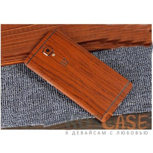 Виниловая наклейка на обе стороны c текстурой дерева для OnePlus 3 / OnePlus 3T (Акация)<br><br>Тип: Чехол<br>Бренд: Noreve<br>Материал: Натуральная кожа