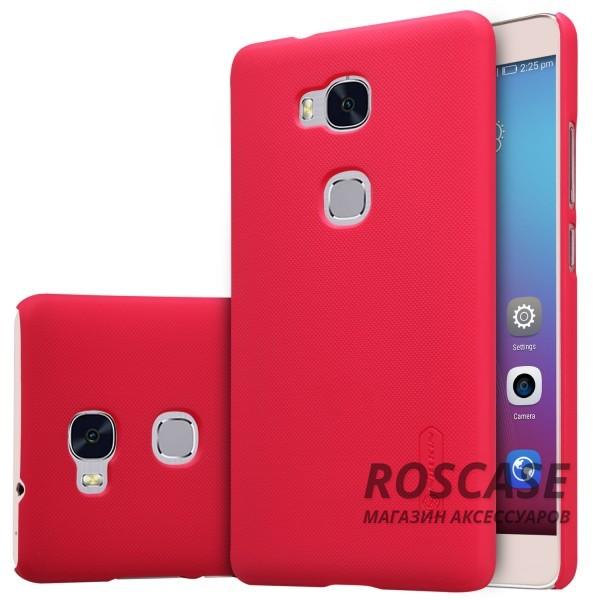 Чехол Nillkin Matte для Huawei Honor 5X / GR5 (+ пленка) (Красный)Описание:производитель - компания&amp;nbsp;Nillkin;материал - поликарбонат;совместим с Huawei Honor X5 / GR5;тип - накладка.&amp;nbsp;Особенности:матовый;прочный;тонкий дизайн;не скользит в руках;не выцветает;пленка в комплекте.<br><br>Тип: Чехол<br>Бренд: Nillkin<br>Материал: Пластик
