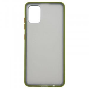 Противоударный матовый полупрозрачный чехол  для Samsung Galaxy A51