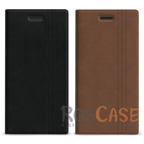 """Универсальный чехол-книжка Gresso """"Ортон"""" с функцией подставки для смартфона 5.1-5.3 дюйма"""
