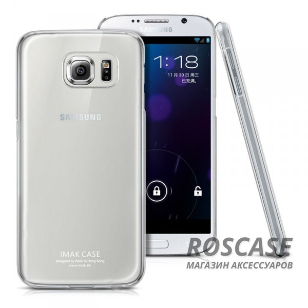 Пластиковая накладка IMAK Crystal Series для Samsung Galaxy S6 G920F/G920D DuosОписание:производство компании IMAK;совместим с телефоном Samsung Galaxy S6 G920F/G920D Duos;материал: термопластичный поликарбонат;форма: чехол-накладка.Особенности:обеспечивает защиту корпуса телефона от любых повреждений;поверхность глянцевая;амортизация при любом падении и ударе;не утолщает корпус телефона;не желтеет и не выцветает;крепится на заднюю часть телефона;дизайн: ультратонкий, прозрачный.<br><br>Тип: Чехол<br>Бренд: iMak<br>Материал: Поликарбонат