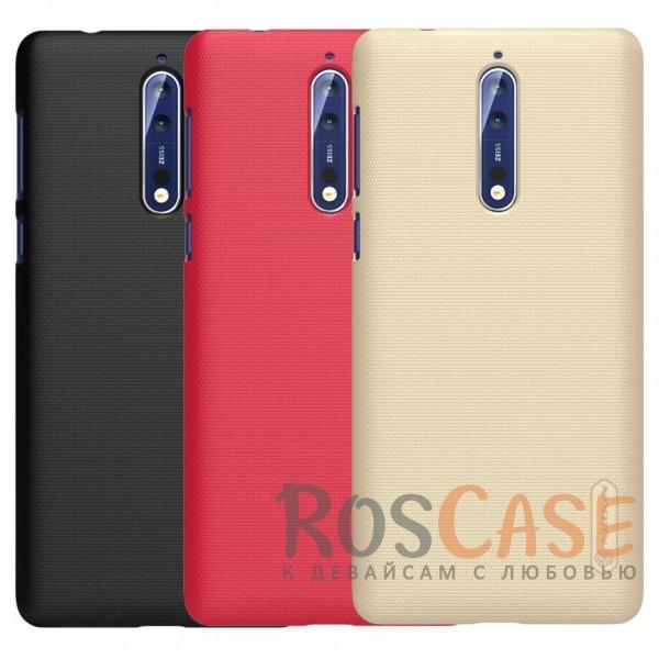 Матовый чехол Nillkin Super Frosted Shield для Nokia 8 Dual SIM (+ пленка)Описание:бренд&amp;nbsp;Nillkin;совместимость: Nokia 8 Dual SIM;материал: поликарбонат;тип: накладка;закрывает заднюю панель и боковые грани;защищает от ударов и царапин;рельефная фактура;не скользит в руках;ультратонкий дизайн;защитная плёнка на экран в комплекте.<br><br>Тип: Чехол<br>Бренд: Nillkin<br>Материал: Поликарбонат