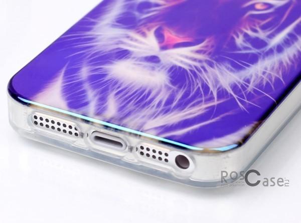 """Изображение TPU чехол IMD Print """"Взгляд тигра"""" для Apple iPhone 5/5S/SE"""