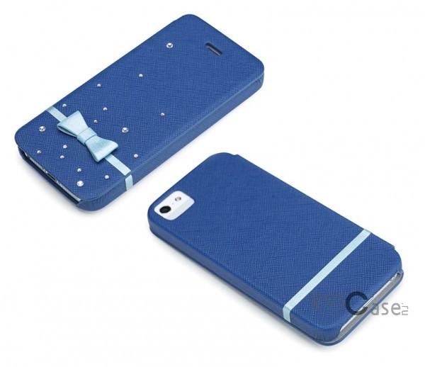 Фото чехла-книжки ROCK 8thdays Monroe's STAR Series для Apple iPhone 5 - цвет синий