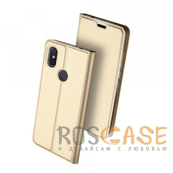 Изображение Золотой Dux Ducis   Чехол-книжка для Xiaomi Mi 8 SE с функцией подставки и картхолдером