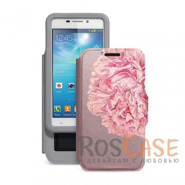 Универсальный женский чехол-книжка с принтом цветка Калейдоскоп Пион для смартфона с диагональю 4,2-4,5 дюйма (Розовый)Описание:совместимость -&amp;nbsp;смартфоны с диагональю 4,2-4,5 дюйма;материал - искусственная кожа;тип - чехол-книжка;предусмотрены все необходимые вырезы;защищает девайс со всех сторон;цветочный рисунок;ВНИМАНИЕ:&amp;nbsp;убедитесь, что ваша модель устройства находится в пределах максимального размера чехла.&amp;nbsp;Размеры чехла: 127*67 мм.<br><br>Тип: Чехол<br>Бренд: Gresso<br>Материал: Искусственная кожа