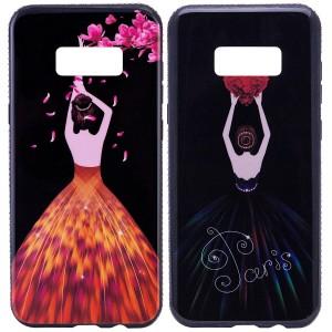 Magic Girl | Глянцевый чехол с элегантным принтом и стразами для Samsung G950 Galaxy S8
